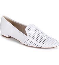 Karen Millen Perforated Flat Slippers White