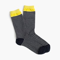 J.Crew Striped Trouser Socks Navy