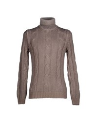 Altea Knitwear Turtlenecks Men Light Brown