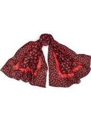 Paul Smith Ps By Half Heart Scarf Red