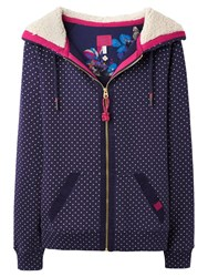 Joules Leaton Hooded Sweatshirt Navy Spot