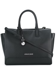 Armani Jeans Square Medium Tote Black