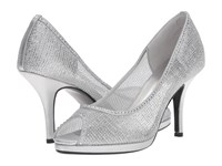 Caparros Future Silver Metallic Mesh High Heels