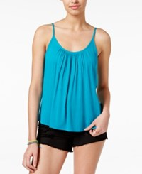 Roxy Juniors' Strappy Back Tank Top Turquoise