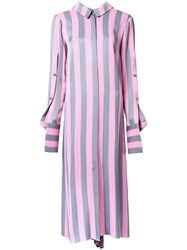 Monse Striped Shirt Dress Pink Purple
