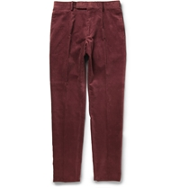 Alfred Dunhill Slim Fit Corduroy Trousers Red