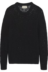 American Vintage Wadsworth Open Knit Cotton Sweater Black