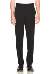 Comme Des Garcons Homme Plus Wool Gabardine Trousers In Black
