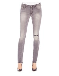 Jessica Simpson Forever Distressed Faded Skinny Jeans Claremont