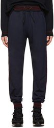 Giuliano Fujiwara Navy Striped Lounge Pants