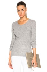 Inhabit Cashmere Thumbhole Crew Sweater In Gray