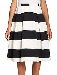Nicholas N Orchard Striped Ball Skirt Off White Black