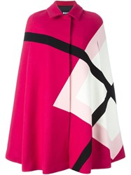 Msgm Panelled Cape Pink And Purple
