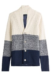 Etro Striped Cotton Cardigan Multicolor