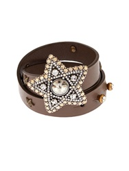 Lanvin Elsie Wrap Around Leather Cuff
