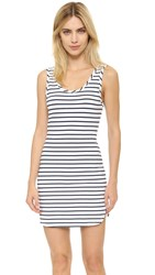 Bobi Stripe Dress White Stripe