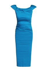 Jolie Moi 40S Ruched Wiggle Dress Royal Blue