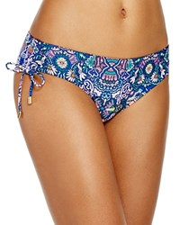 Laundry By Shelli Segal Pretty Partridge Tab Bikini Bottom Midnight