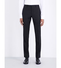Corneliani Tapered Wool And Mohair Blend Trousers Black