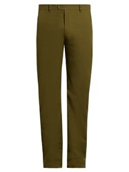 Craig Green Slim Fit Cotton Blend Trousers Green
