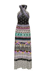 Temperley London Cherise Halter Neck Dress Black