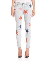 Stella Mccartney Star Print Skinny Boyfriend Jeans Blue