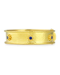 19K Gold Bangle Bracelet With Blue Sapphires Elizabeth Locke