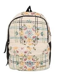 Natargeorgiou Embroidered Neoprene And Cotton Backpack Black Beige