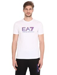 Emporio Armani Logo Printed Cotton T Shirt