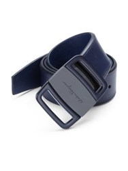 Salvatore Ferragamo Adjustable Leather Belt Hickory