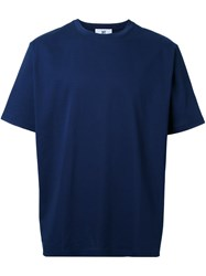 Hbns Wide Short Sleeved T Shirt Blue
