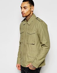 Asos Military Jacket In Khaki Khaki