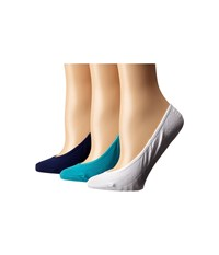 Sperry Solid Micro Liner 3 Pair Ceramic Blue Women's No Show Socks Shoes
