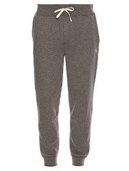 Polo Ralph Lauren Logo Embroidered Cotton Blend Track Pants Grey
