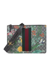 Gucci Floral Messenger Bag Unisex Brown