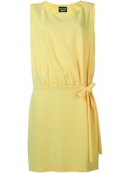 Boutique Moschino Waist Bow Shift Dress Yellow And Orange