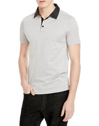 Kenneth Cole Contrast Collar Polo Black