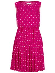 Gina Bacconi Chiffon Spot Short Dress Fuschia