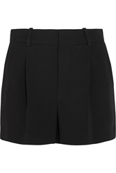 Chloe Iconic Pleated Crepe Shorts