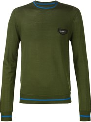 Givenchy Logo Patch Sweater Green