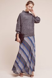 Anthropologie Kacie Striped Maxi Skirt Blue Motif