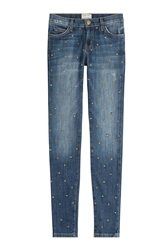 Current Elliott Studded Skinny Jeans Blue
