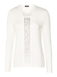 Gerry Weber Sparkle Detail Jersey Top Ivory