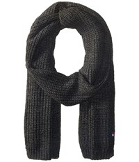 Tommy Hilfiger Chunky Rib Stitch Scarf Charcoal Scarves Gray
