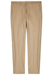 Valentino Sand And Mint Cotton Blend Chinos Beige