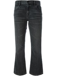 Alexander Wang Cropped Bootcut Jeans Grey