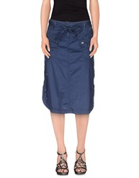 Jeans Les Copains Skirts Knee Length Skirts Women Blue