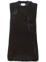 3.1 Phillip Lim Sleeveless Knit Top Black