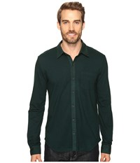 Mod O Doc Malibu Long Sleeve Button Front Shirt Hunter Men's Clothing Green