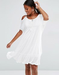 Vero Moda Tiered Cami Dress Snow White